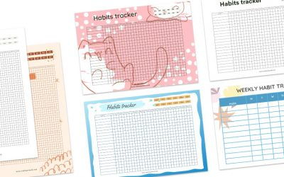 12 Free Printable Habit Tracker Templates